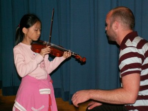 Violin instruction with Teo Benson